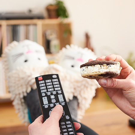 Multitasking mit Ben & Jerry's 'Wich – durch TV-Programme surfen