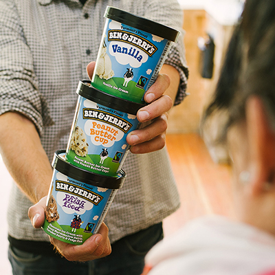 3 free pints of Ben & Jerry's